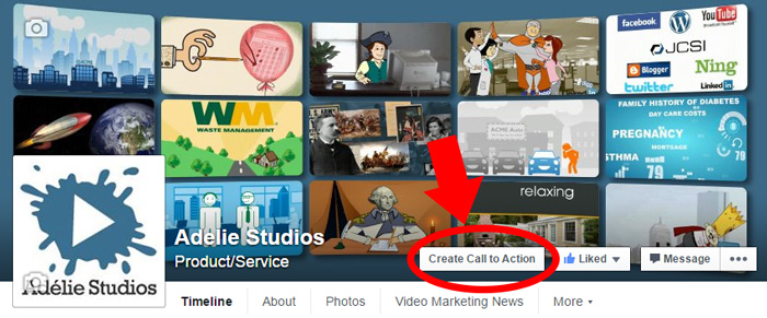 Facebook Call to Action Step 1: Create Call to Action