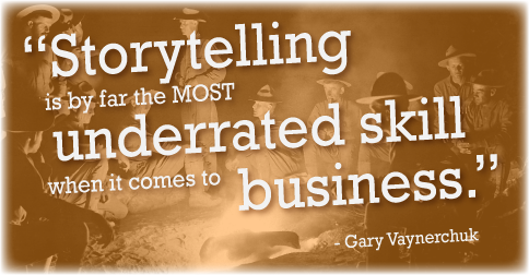 Gary Vaynerchuk's quote on storytelling