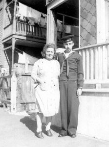 My Grandfather & his Mother - 1942